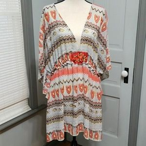 The Pyramid Collection Chiffon Tunic